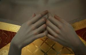 złota i biały ptaszek justyna giza
